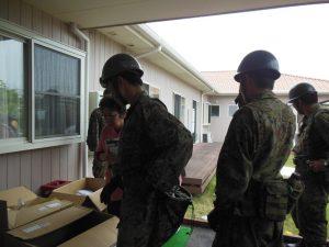 自衛隊救援物資